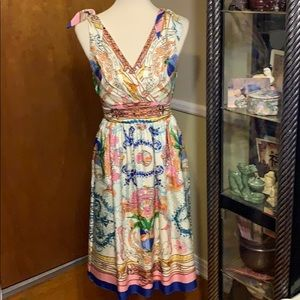 🔥Anthropologie Collette Dinnigan 100% silk Dress
